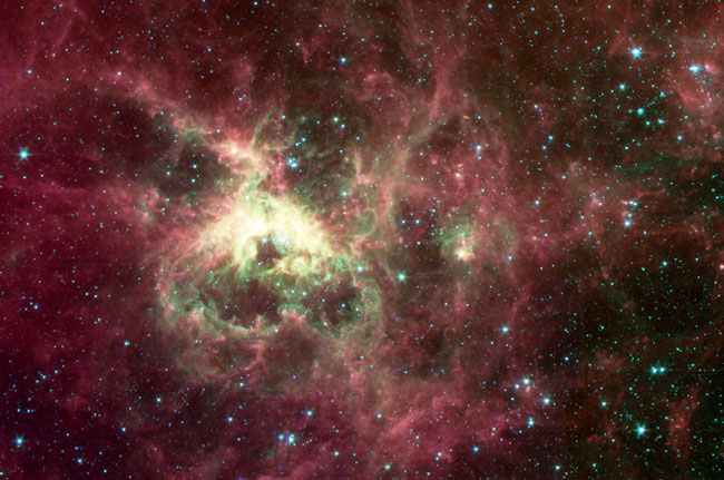 The Tarantula Nebula from Spitzer