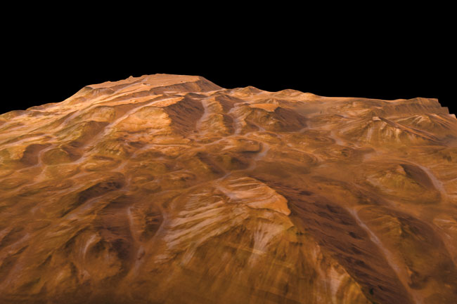 Valles Marineris Perspective from Mars Express