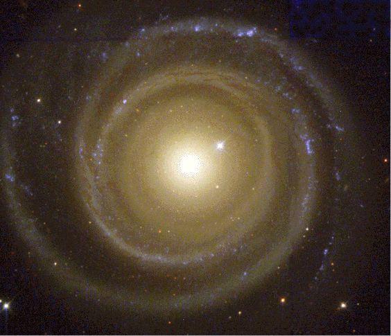 Los brazos espirales de NGC 4622