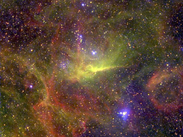 Nebulosas circunferidas al complejo binario Wolf-Rayet-BAT99-49