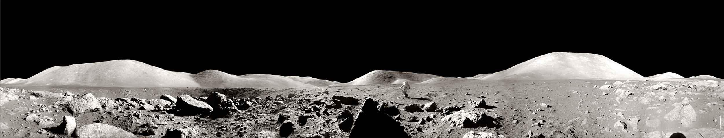 Panorama lunar captado por la misión Apolo 17