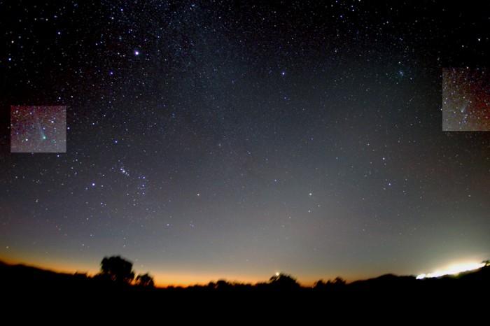 Dos Cometas en el sur de Cielos