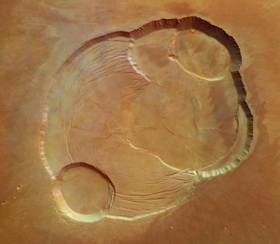 En la cima del Olympus Mons