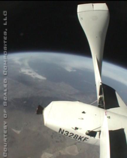 El planeta Tierra desde SpaceShipOne