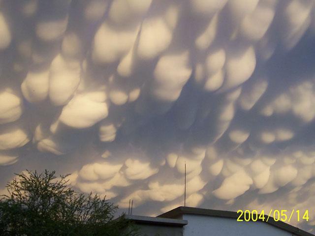 Nubes «mammatus» sobre México