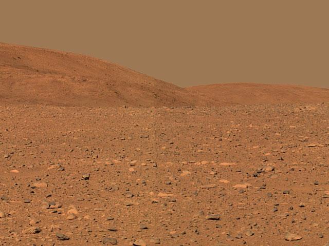 El rover Spirit llega a las colinas Columbia en Marte