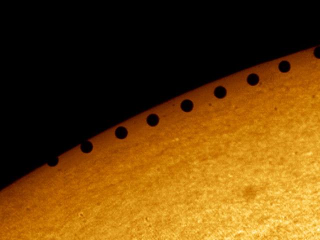Tránsitos un planeta al Sol