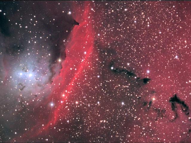 En el centro de NGC 6559