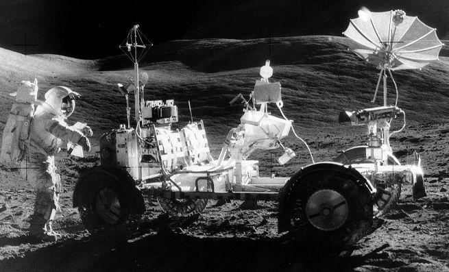 El vehículo lunar del Apolo 17