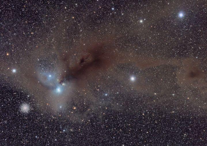 Estrellas y polvo en Corona Australis