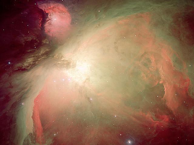 Nebulosa de Orión en Oxígeno, hidrógeno, azufre y