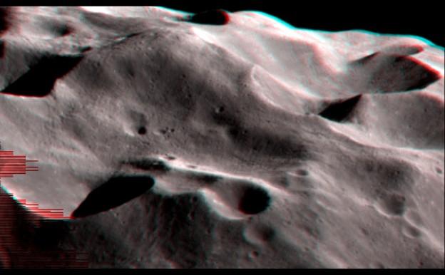 Los cráteres de Febe en estéreo