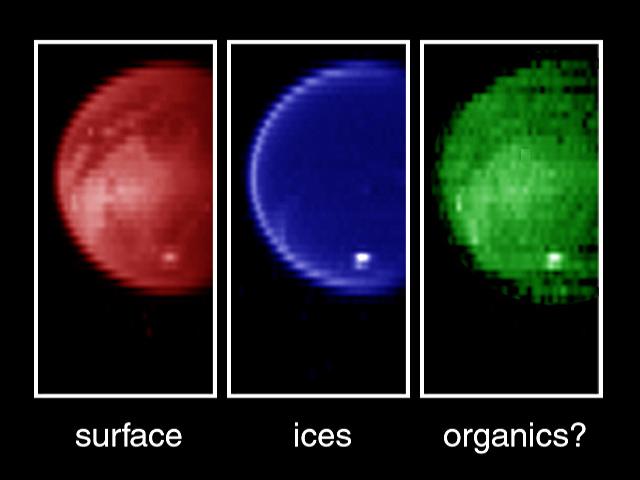 Cassini de Titán en infrarrojo