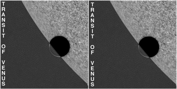 Estereograma del tránsito de Venus