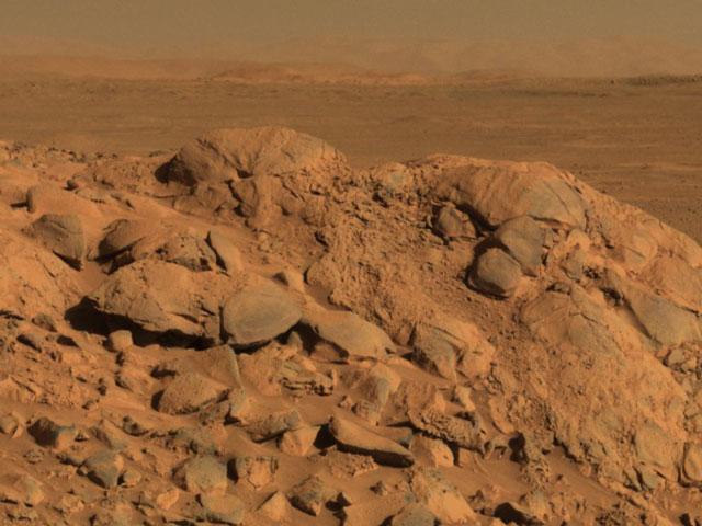 Disfrutando del panorama en Marte