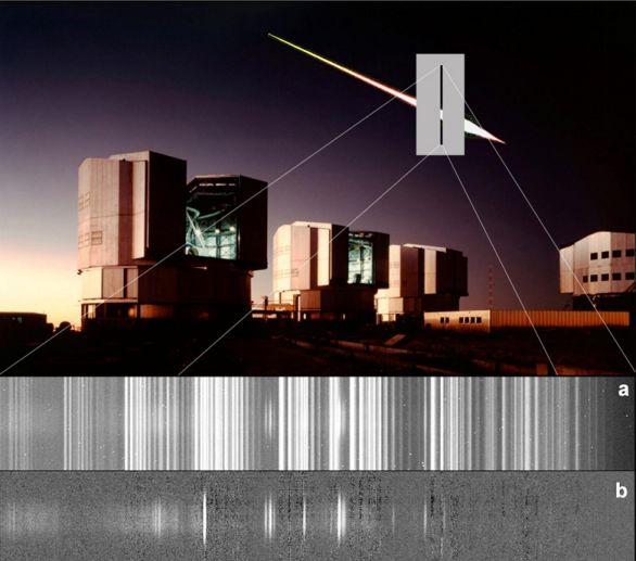 El espectro de un meteoro