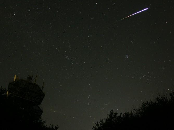 Estrellas fugaces Perseidas sobre Japón