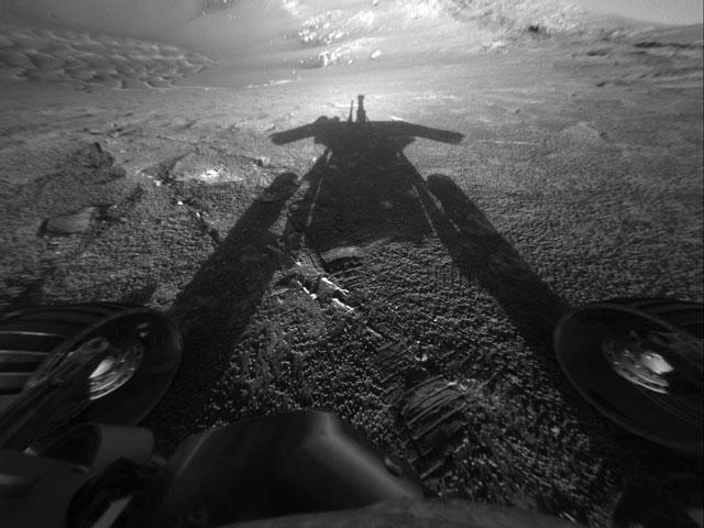 Sombra de un Robot de Marte