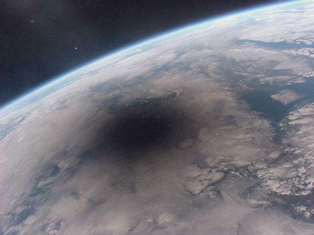 Ombre de la lune sur la terre