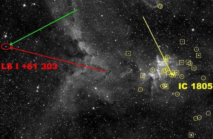 Microquasar en Movimiento