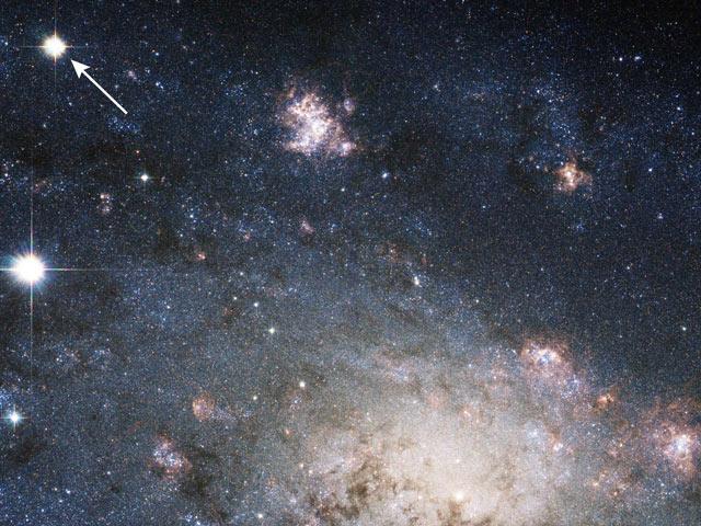 Supernova en la cercana galaxia NGC 2403