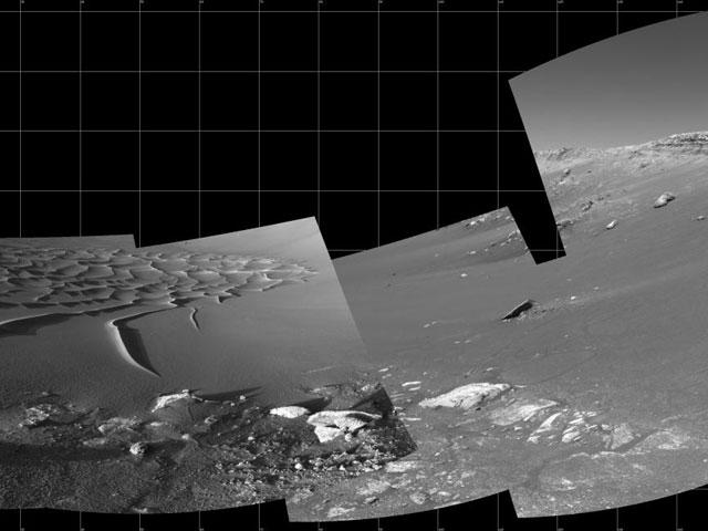 Mosaico del cráter Endurance de Marte