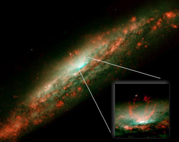 El caldero burbujeante de NGC 3079