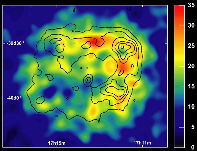 Remanente de supernova retratada en rayos gamma