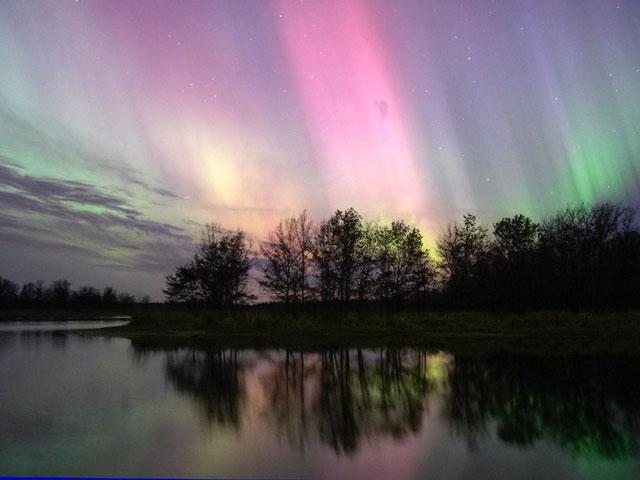 Aurora sobre Wisconsin