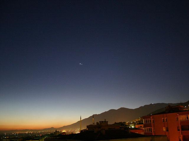 Júpiter y Venus al amanecer