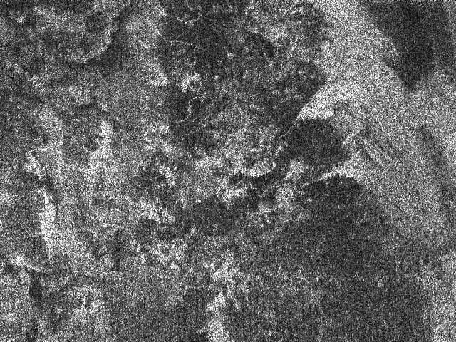 Una imagen de radar de Titán