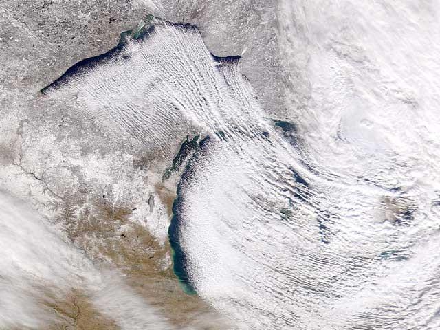 Nieve «efecto lago» en la Tierra