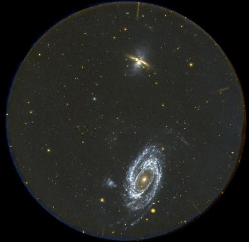 M81 y M82: GALEX en vista completa