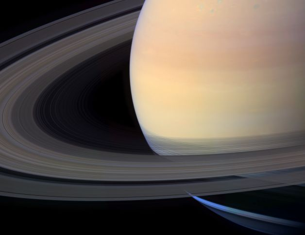 a study of the planet of saturn The first close-up study of the ringed planet cassini looks toward rhea's cratered, icy landscape with the dark line of saturn's ringplane and the planet's murky atmosphere as a background rhea is saturn's second-largest moon.