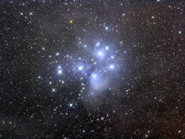 El cúmulo estelar de Las Pléyades