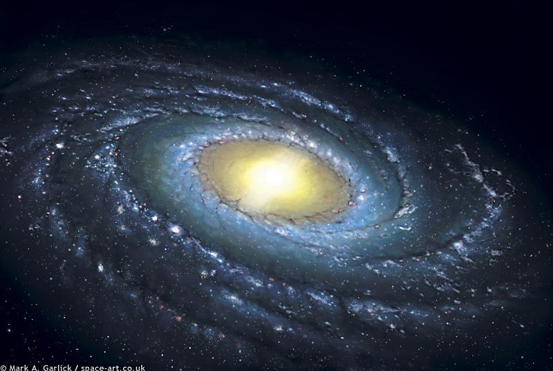 milky way galaxy edge on view - photo #40