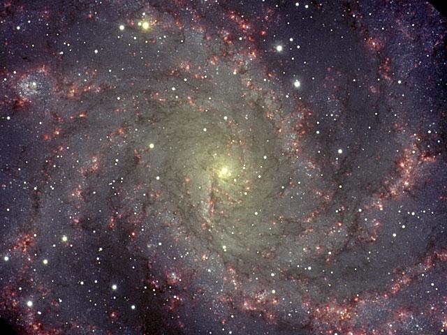 NGC 6946: la galaxia de los fuegos artificiales