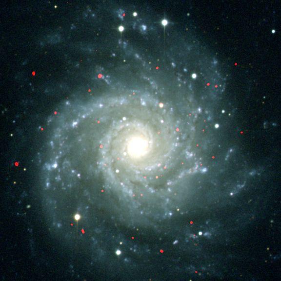 Ultrasvítivé rentgenové zdroje(ULX) v M74