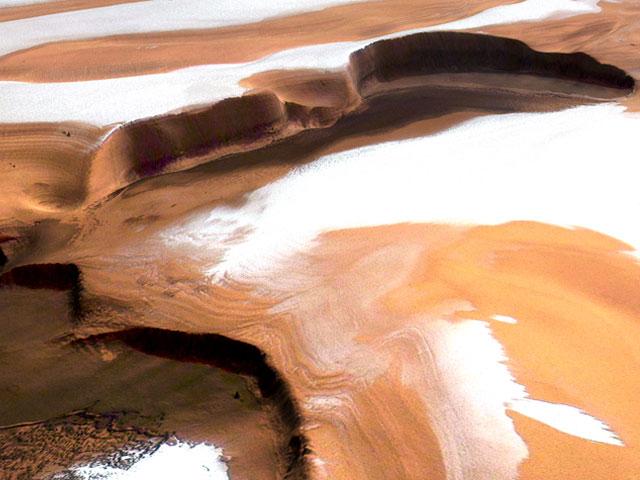 Los acantilados escarpados de Marte