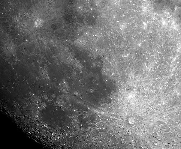 Tycho y Copérnico: cráteres lunares radiales