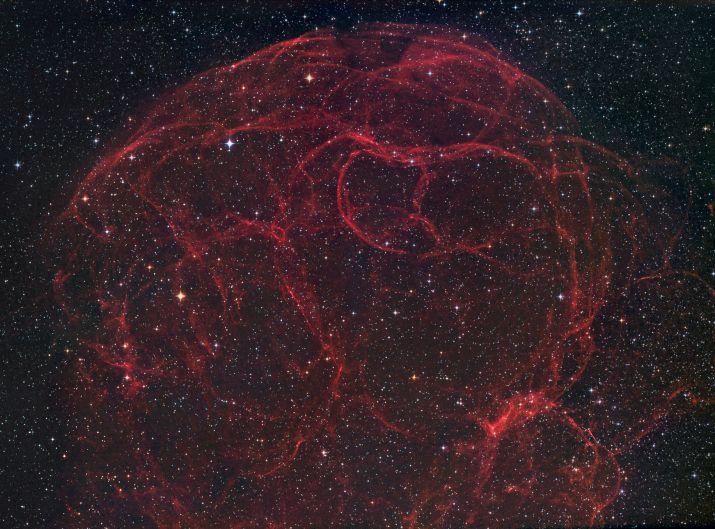 Simeis 147: los restos de una supernova