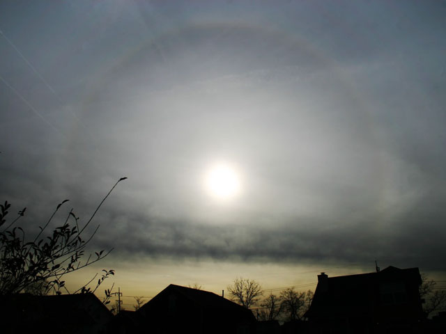 Aureola solar sobre Tennessee