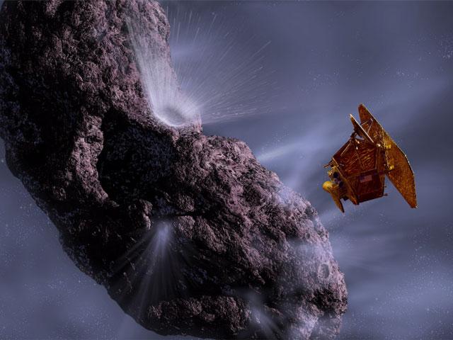 Vehículo espacial Deep Impact Hurtles Hacia Comet