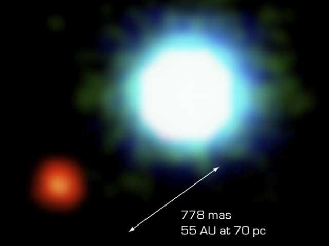 La primera imagen de un planeta extrasolar