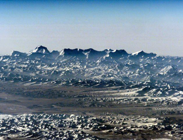 El horizonte del Himalaya desde el espacio