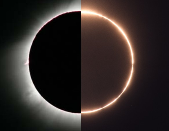 Eclipse solar híbrido