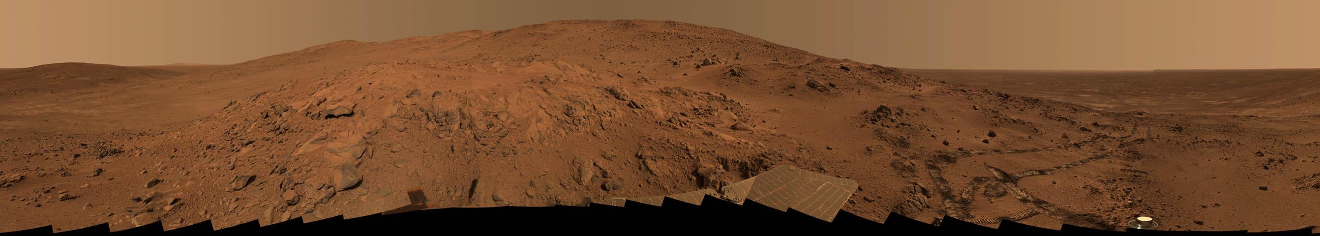 Un Panorama de Marte de Larrys Lookout