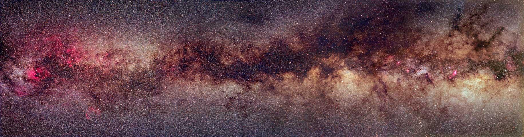 La franja de la Vía Láctea