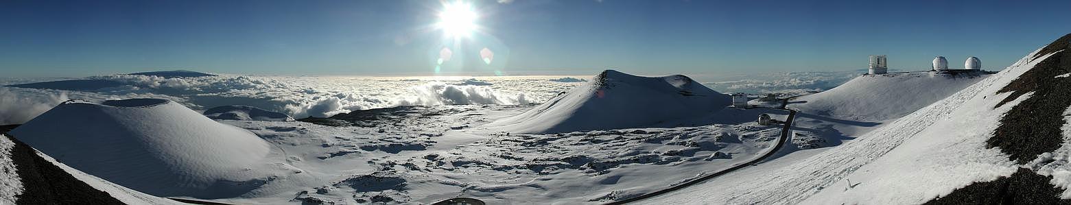 Un panorama de Mauna Kea