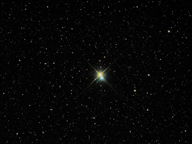 Der Doppelstern Albireo im Sternbild Schwan
